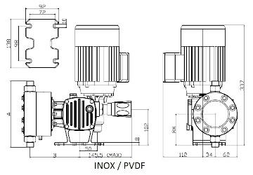P12 Serie_ST_AD_dimensional_INOX_PVDF CUSTOM